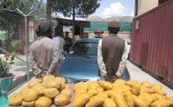نیروهای پولیس ۶ تن را به اتهام قاچاق و نگهداری مواد مخدر بازداشت کردند