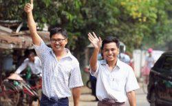 دو خبرنگار، از زندان میانمار آزاد شدند