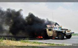 در حملهی طالبان بر کمربندهای امنیتی شهر فراه سه تانک ارتش به آتش کشیده شد