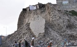 برج بالابین قلعهی غزنین فرو ریخت
