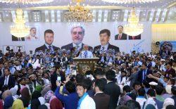 عبدالله عبدالله خطاب به مردم: در انتخابات سهم گرفته و از رای تان پاسداری کنید