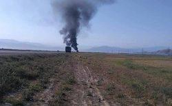 طالبان یک تانکر تیل را در ولایت بغلان به آتش کشیدند