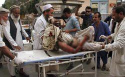 دو انفجار در «هسکه مینه»ی ولایت ننگرهار جان بیش از ۶۰ نمازگزار را گرفت