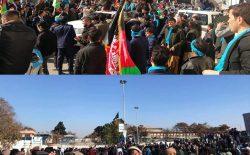 معترضان در چهارراهی پشتونستان رسیدند