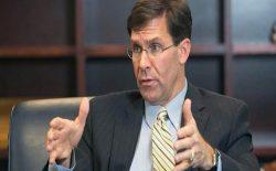 مارک اسپر: کاهش نیروهای امریکایی ربطی به توافق با طالبان نخواهد داشت