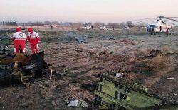سقوط هواپیمای اوکراینی در تهران ۱۷۰ کشته به جا گذاشت