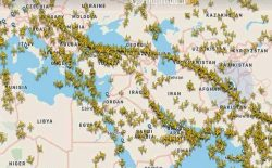 تنشهای ایران و امریکا ۲۵ درصد پروازها در فضای افغانستان را افزایش داده است