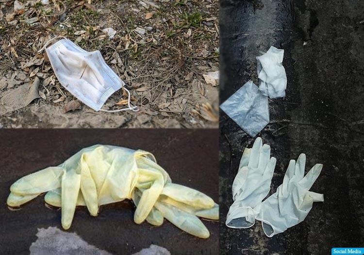 ماسکها و دستکشهای رها شده در خیابان - روزنامه صبح کابل