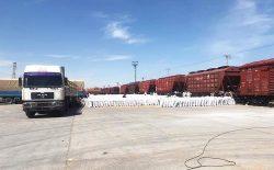 انتقال بیش از ۳۰۰ هزار تُن اموال تجارتی و مواد غذایی از طریق راه آهن به افغانستان