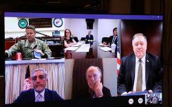 غنی و پومپئو در مورد محل برگزاری مذاکرات بینالافغانی گفتوگو کردند