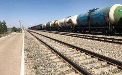 انتقال بیش از ۲۱۰ تُن اموال تجارتی و مواد غذایی از طریق خط آهن به افغانستان