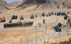 نیروهای دفاعی و امنیتی در ولسوالی اسپینبولدک ولایت کندهار مانور نظامی راهاندازی کردند
