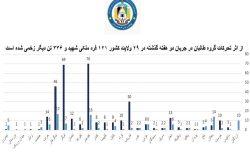 طارق آرین: در دو هفتهی گذشته ۱۲۱ غیرنظامی در حملات طالبان کشته شدند