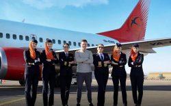 نخستین پرواز شرکت کامایر با خلبان و خدمههای زن