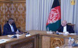 رییسجمهور غنی با وزیر دفاع ایالات متحدهی امریکا دیدار کرد