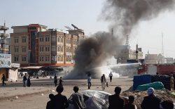 سخنگوی والی بلخ در واکنش به اعتراض مردمی: اوباشها موتر شهرداری را آتش زدند
