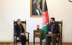 حمدالله محب و سفیر هند در بارهی تحریم طالبان از سوی شورای امنیت سازمان ملل صحبت کردند