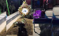 لالایی غمگین؛ تخت خواب پدر کنار قبر پسر!