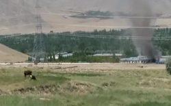 ساختمان انستیتوت زراعت میدانوردک، در اثر برخورد گلولهی هاوان آتش گرفت