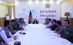 رییسجمهو غنی در بلخ نشست فوقالعادهی امنیتی برگزار کرد