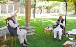 رییسجمهور غنی با عبدالربرسول سیاف دیدار و گفتوگو کرد
